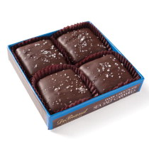 Dark Chocolate Sea Salt Caramels 4 pc. Box