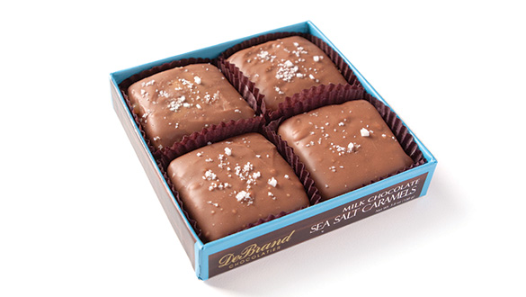 Milk Chocolate Sea Salt Caramels 4 pc. Box