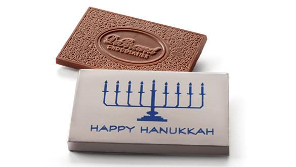 Box of 8 Happy Hanukkah Bars Milk Chocolate