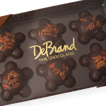 6 pc. Caramel Pecan Patties Dark Chocolate