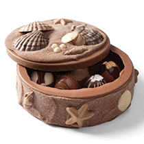 Filled Seashell Art Box Fill with Truffle Collection