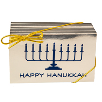 Bag of 8 Happy Hanukkah Bars Milk Chocolate