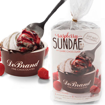 Dark Chocolate Raspberry Sundae in a Cup Dark Chocolate Raspberry