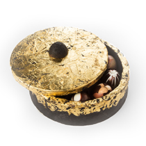 Draped in Gold Art Box Filled with Truffle Collection