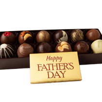 12 pc. Truffle Collection with Father's Day Bar Popular Assortment