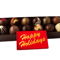 12 pc. Truffle Collection with Happy Holidays Bar