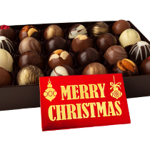 24 pc. Truffle Collection with Merry Christmas Bar