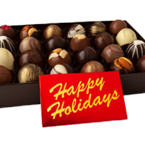 24 pc. Truffle Collection with Happy Holidays Bar