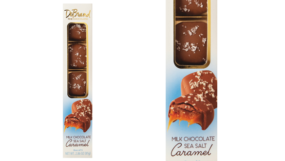 Milk Chocolate Sea Salt Caramels 9 pc. Box