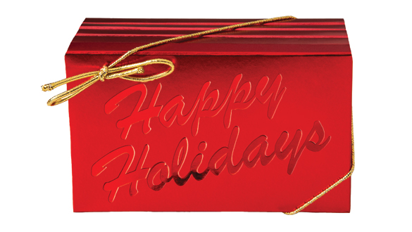 Box of 8 Happy Holidays Bars Milk Chocolate