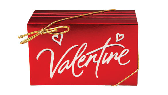 Box of 8 Valentine Bars Milk Chocolate