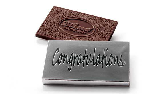 Box of 8 Chocolate Thoughts™ Congratulations - Dark Choc...