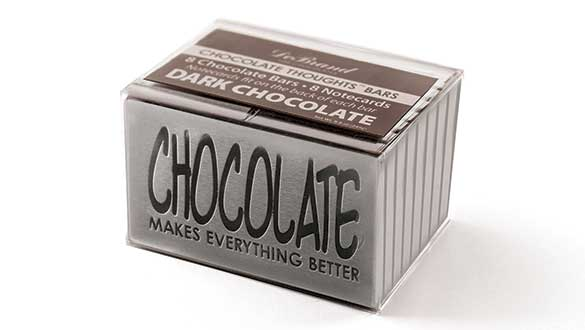 Box of 8 Chocolate Thoughts™ ...Everything Better - Dark Choc...