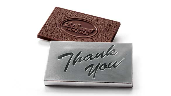 Box of 8 Chocolate Thoughts™ Thank You - Dark Choc...