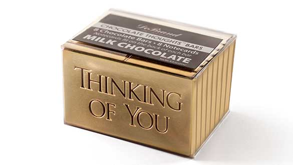 Box of 8 Chocolate Thoughts™ Thinking of You - Milk Choc...