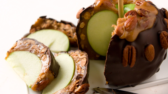 Giant Caramel Apple With Nuts Dark Chocolate