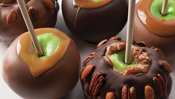 Giant Caramel Apple With Nuts Milk Chocolate