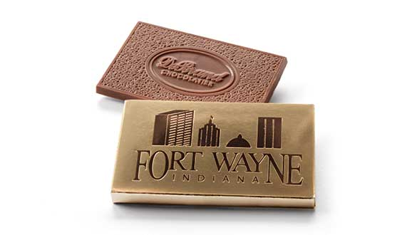 Box of 8 Chocolate Thoughts™ Fort Wayne - Milk Chocolate