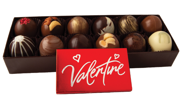 12 pc. Truffle Collection with Valentine Bar