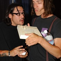 <h4>Brandon Boyd & José Pasillas</h4>Brandon Boyd & José Pasillas, from Incubus, tasting the Connoisseur Collection.
