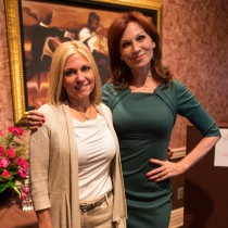 <h4>Cathy with Marilu Henner</h4>Marilu Henner at DeBrand Corporate Headquarters for the 2014 IPFW Tapestry event.