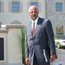 <h4>Stedman Graham</h4>Stedman Graham in front of DeBrand Corporate Headquarters.